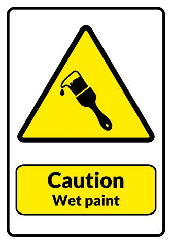 Wet Paint sign template