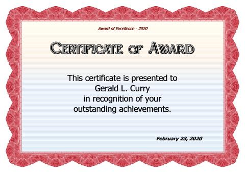 Download Award Certificate Template Award Certificate Maker