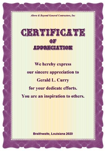 Certificate Of Appreciation Template, How To Create A Certificate