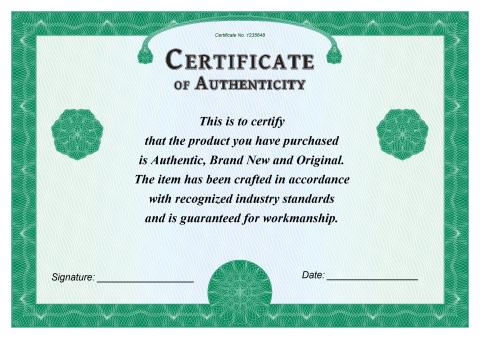 Certificate Of Authenticity Template, How To Create A Certificate