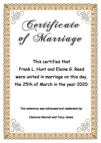 Certificate Of Marriage Template, How To Create A Certificate Of