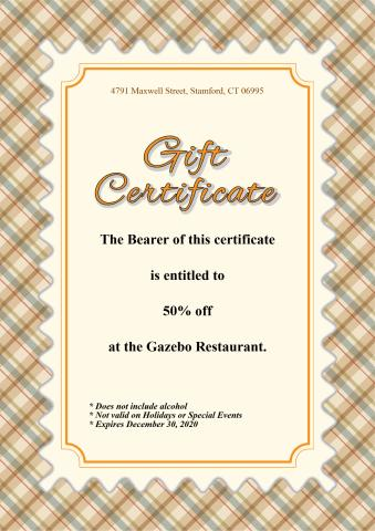 Gift Certificate 1 template