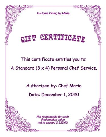 Gift Certificate 2 template