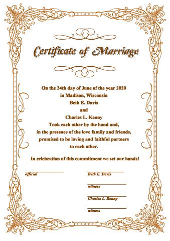 wedding certificate template how to create a wedding certificate