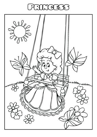 Princess coloring book template