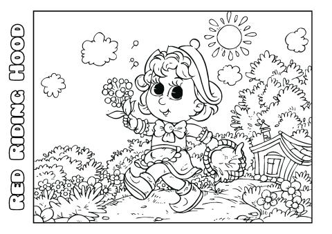 Red Riding Hood 2 coloring book template