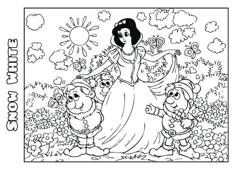 Snow White 1 Coloring Book Template