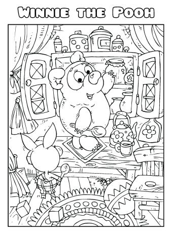 Winnie the Pooh coloring book template