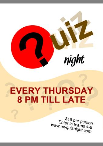 Quiz Night 1 poster template
