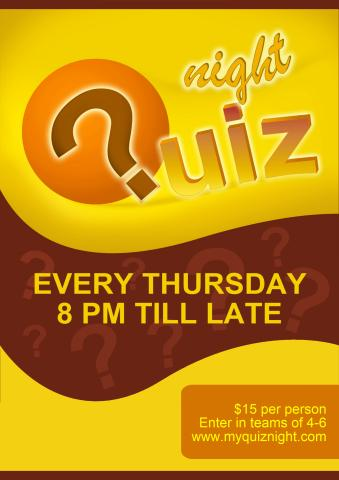 Quiz Night 2 poster template