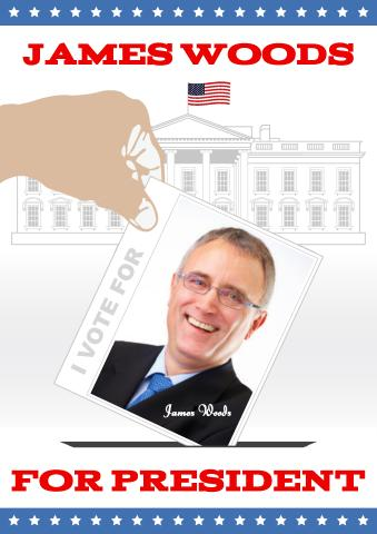 Candidate for President poster template