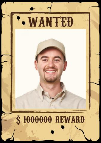 Old West Wanted 2 poster template