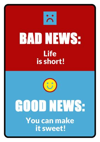 Bad News, Good News sign template
