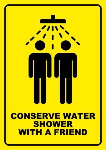 Conserve Water sign template