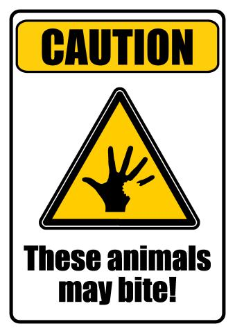 Dangerous Animals sign template