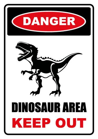 Dinosaur Area sign template