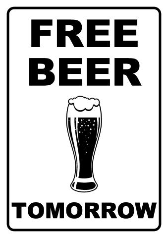 Free Beer sign template