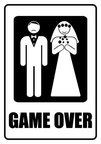 Game Over sign template