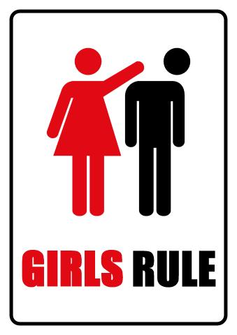 Girls Rule sign template