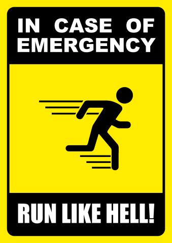 In Case of Emergency sign template