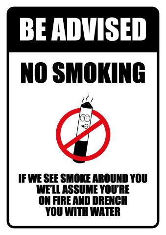 No Smoking sign template