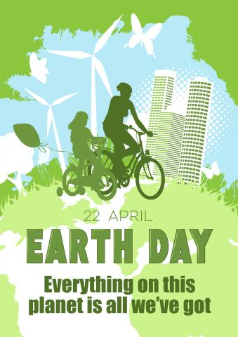 Earth Day 1 poster template