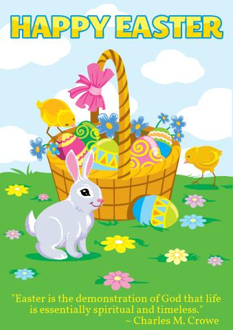 Easter 2 poster template, How to print an Easter 2 poster...