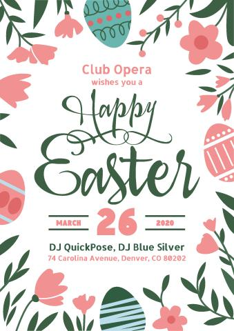 Easter 3 poster template