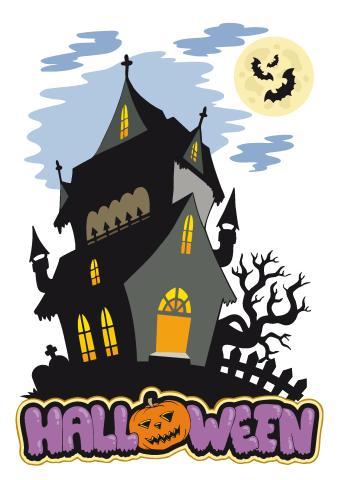 Halloween 1 poster template