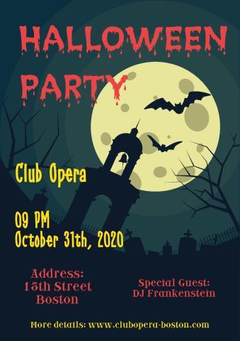 Halloween 5 poster template