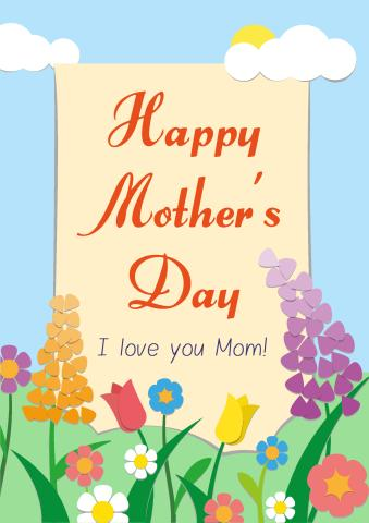 Mother's Day 2 poster template