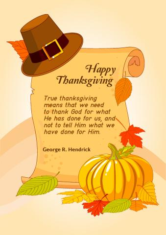 Thanksgiving 2 poster template