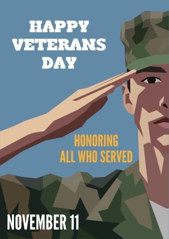 Veteran's Day poster template