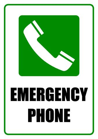 Emergency Telephone sign template