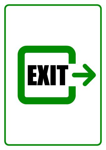 Exit sign template