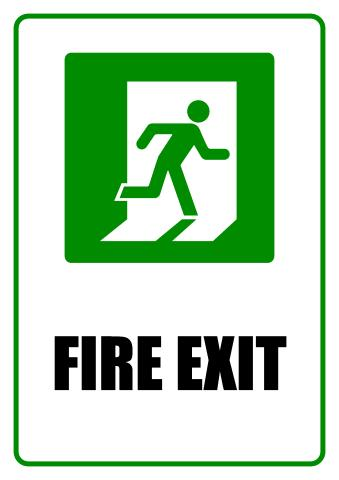 Fire Exit sign template