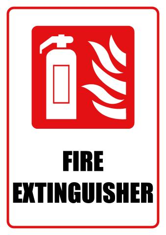 Fire Extinguisher sign template