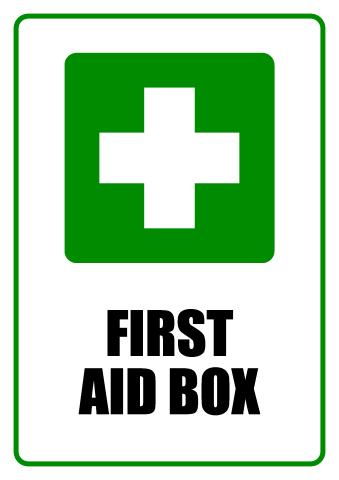First Aid Box sign template
