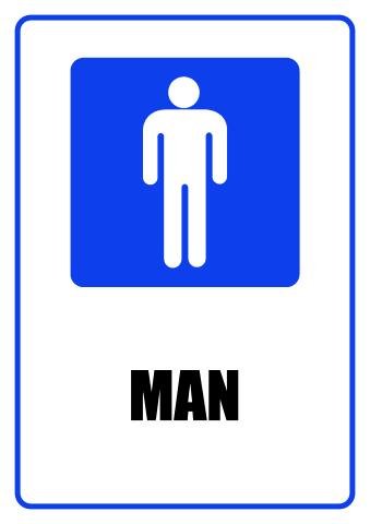 Man sign template