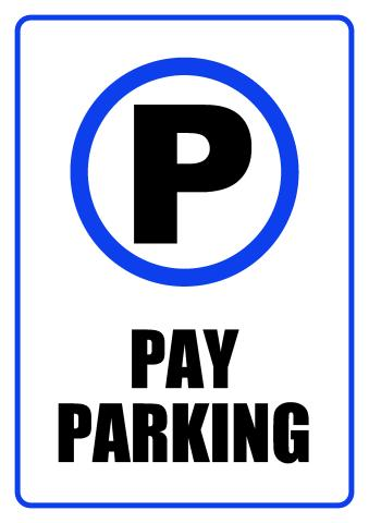 Parking sign template