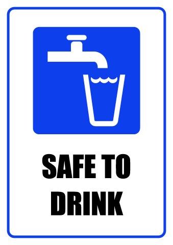 Safe To Drink sign template