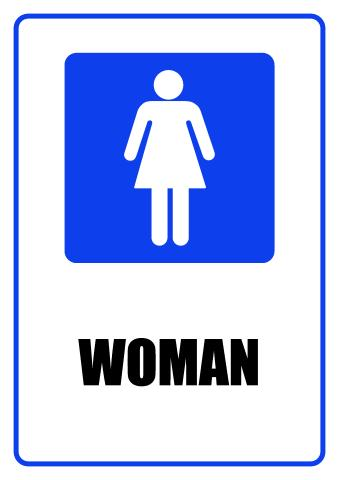 Women sign template