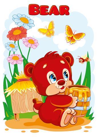 Bear poster template