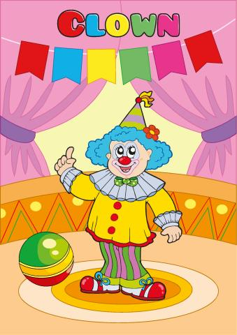 Clown poster template
