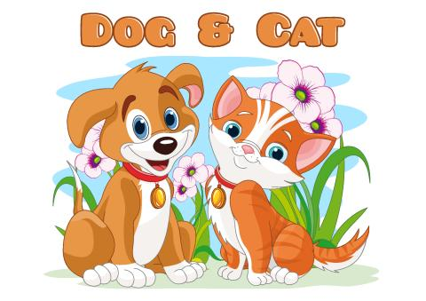 Dog & Cat poster template