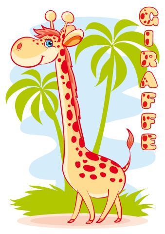Giraffe poster template
