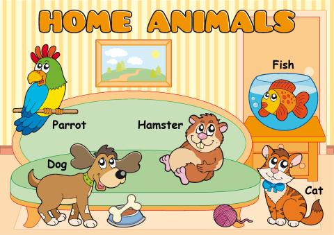 Home Animals poster template