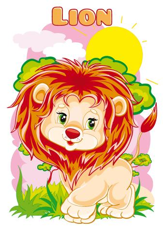 Lion poster template