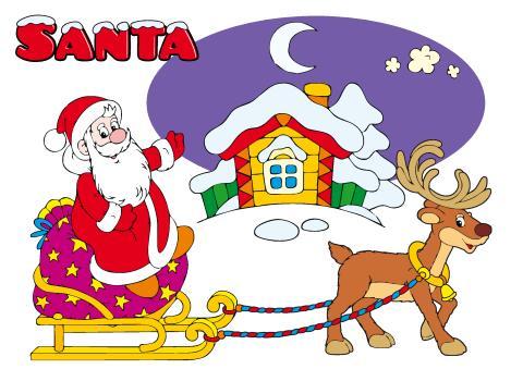 Santa poster template