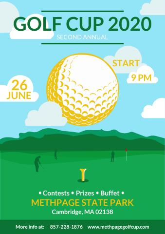 Golf Cup poster template